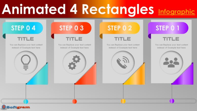 Create Animated 4 Rectangles Infographic