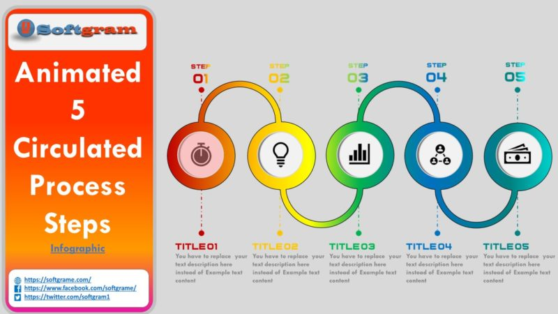 Create  Animated 5 Process Steps Infographic