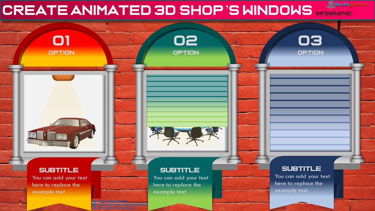 Create Animated 3D Shop's Windows Infographic