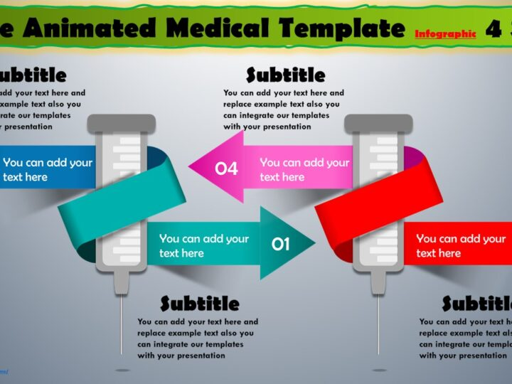 Create Animated Medical template Infographic
